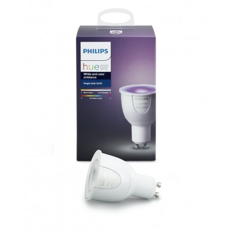 philips hue white and colour ambiance gu10 smart bulb. Black Bedroom Furniture Sets. Home Design Ideas